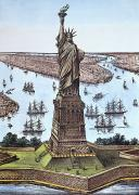 Liberated Prints - Great Bartholdi Statue Print by Granger
