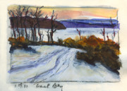Mary Byrom Prints - Great Bay Snow Print by Mary Byrom