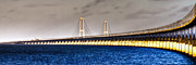 Water Line Photos - Great Belt Bridge by Gert Lavsen