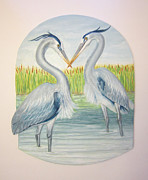 Great Blue Heron Ceramics - Great Blues by Janet Knocke