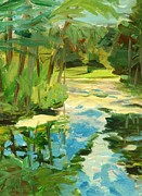 Great Outdoors Paintings - Great Brook Farm Canoe Launch by Claire Gagnon