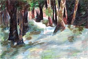 Great Outdoors Paintings - Great Brook Farm Winter Beauty by Claire Gagnon