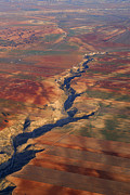 Aerial Photo Posters - Great canyon river Gor in Spain Poster by Guido Montanes Castillo