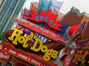 Neon Signs Photos - Great Charbroiled Hot Dogs by Elizabeth Hoskinson