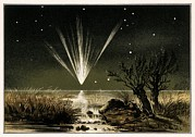 Gasses Prints - Great Comet Of 1861, Artwork Print by Detlev Van Ravenswaay