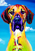 Great Dane Portrait Prints - Great Dane - Philosopher Print by Alicia VanNoy Call