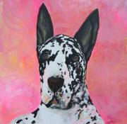 Great Dane Paintings - Great Dane by Deb Magelssen