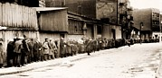 Hunger Framed Prints - Great Depression Breadline At Mccauley Framed Print by Everett