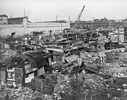 Recessions Prints - Great Depression Hooverville In Lower Print by Everett