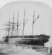 New York Harbor Art - Great Eastern 1858-59 by Granger