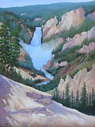 Great Painting Originals - Great Falls Grand Canyon by Yvonne Sailers