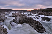 Jeka World Photography Posters - Great Falls National Park Virginia Poster by Jeka World Photography