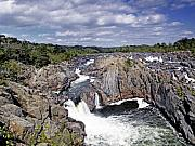 Great Falls Park Posters - Great Falls Park Maryland and Virginia Poster by Brendan Reals