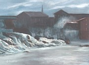 Lewiston Painting Prints - Great Falls Print by Patricia  Powers