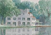 Falls Paintings - Great Falls Tavern by Thomas Sorrell