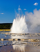 Yellowstone Photos - Great Fountain Geyser by Greg Norrell