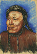 Native Pastels - Great Grandfather by Laura Brightwood