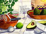 Kitchen Art Posters - Great Guac. Poster by Catherine G McElroy
