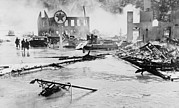 Floods Photos - Great Hurricane Of 1938. Flood And Fire by Everett