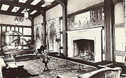 Eureka Paintings - Great Lounge In The Eureka Inn California 1920 by Dwight Goss