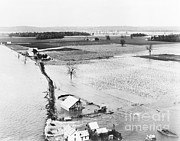 River Flooding Framed Prints - Great Mississippi Flood, 1927 Framed Print by Library of Congress