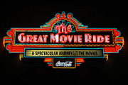 Travelpixpro Posters - Great Movie Ride Neon Sign Hollywood Studios Walt Disney World Prints Poster by Shawn OBrien