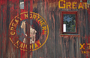 Boxcar Photos - Great Northern Railway Old Boxcar by Bruce Gourley