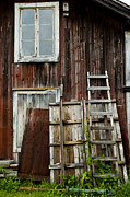 Rundown Barn Framed Prints - Great Old Swedish barn Framed Print by Micah May