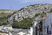 Inclined Prints - Great Orme Limestone Strata Print by Martin Bond