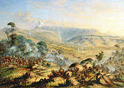 Battle Painting Framed Prints - Great Peak of the Amatola-British-Kaffraria  Framed Print by Thomas Baines