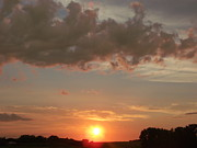 Faith Hope And Love Photos - Great Plains Sunset by Brian  Maloney
