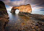 Derek Smyth Framed Prints - Great Pollet Sea Arch Framed Print by Derek Smyth