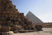 On-the-look-out Prints - Great Pyramids Khafre Print by Darcy Michaelchuk