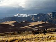 Sand Dunes Posters - Great Sand Dunes National Park Poster by Carol Milisen
