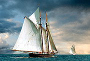 Tall Ship Prints - Great Schooner Race Print by Fred LeBlanc