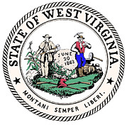 2000s Framed Prints - Great Seal Of The State Of West Virginia Framed Print by Everett