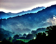 Mystical Landscape Framed Prints - Great Smokey Mountains Framed Print by Susanne Van Hulst