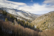 Winter Travel Prints - Great Smoky Mountains National Park Winter Snow Gatlinburg TN Print by Dave Allen