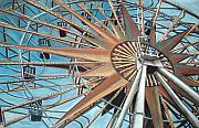 Spiral Pastels Framed Prints - Great Spoke-sold Framed Print by Mirinda Reynolds