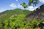 Beijing Framed Prints - Great Wall At Mutianyu Framed Print by Bridget Coila