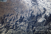 Aerial Photography Framed Prints - Great Wall Of China Framed Print by NASA/Science Source