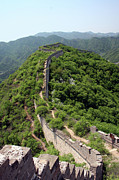 Built Structure Framed Prints - Great Wall Of China Framed Print by Natalia Wrzask
