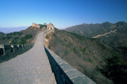 Great Wall Photos - Great Wall of China with Arrow Towers by George Oze