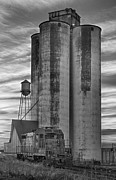 Blackwhite Framed Prints - Great Western Sugar Mill Longmont Colorado BW Framed Print by James Bo Insogna