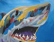 Sharks Paintings - Great White by Caroline Davis