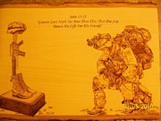 Marine Pyrography - Greater Love by Rodney Balderas