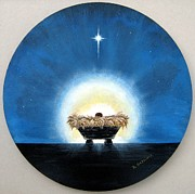 Baby Jesus Mixed Media Prints - Greatest  Gift Print by Riley Geddings