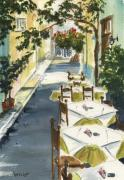 Greece Painting Originals - Grecian Taverna by Marsha Elliott