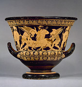 Terra Cotta Photos - Greece - Euphronios Krater by Granger