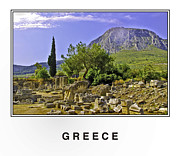 Blue Cobblestone Prints - Greece Print by Madeline Ellis